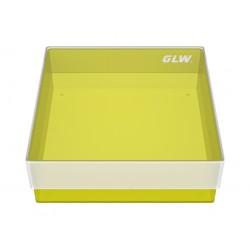 Pudełko KRIO /  bez przegródek /  bez otworów w dnie /  130x130x45mm