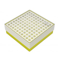 pudełko KRIO /  10 x 10 /   z podwójnym wkładem 130x130x45mm