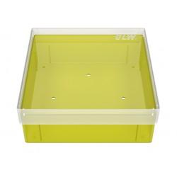 Pudełko KRIO /  bez przegródek z otworami w dnie /  130x130x52mm
