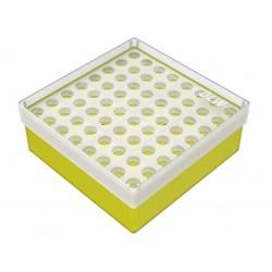 pudełko KRIO /  8 x 8 /   z podwójnym wkładem 130x130x52mm