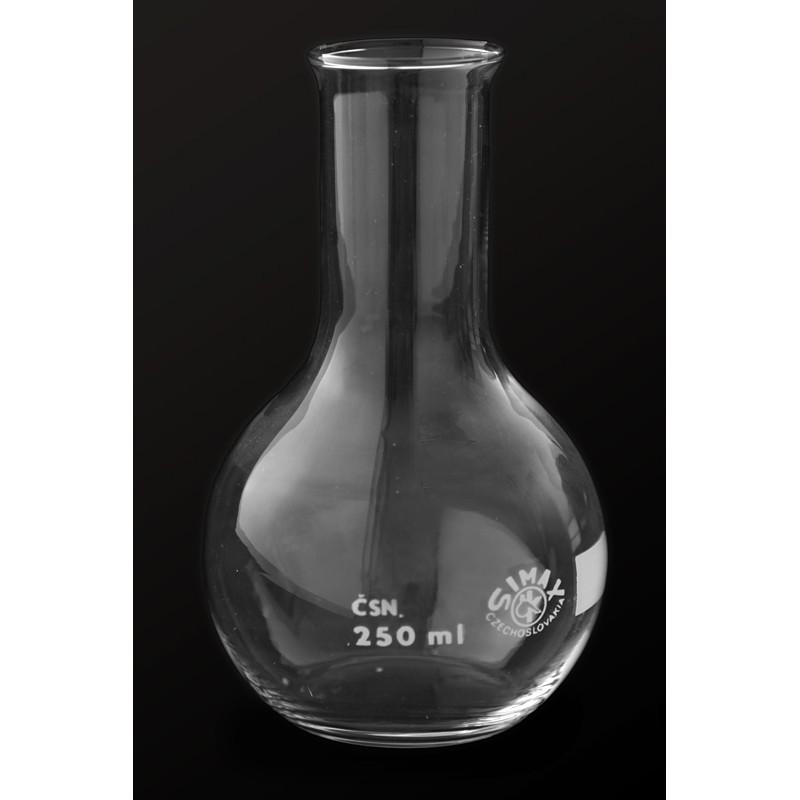 Kolba szklana płaskodenna z wąską szyją 100 ml