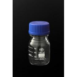 Butla z niebieską nakrętką GL45 do sterylizacji w temperaturze 140°C 100 ml
