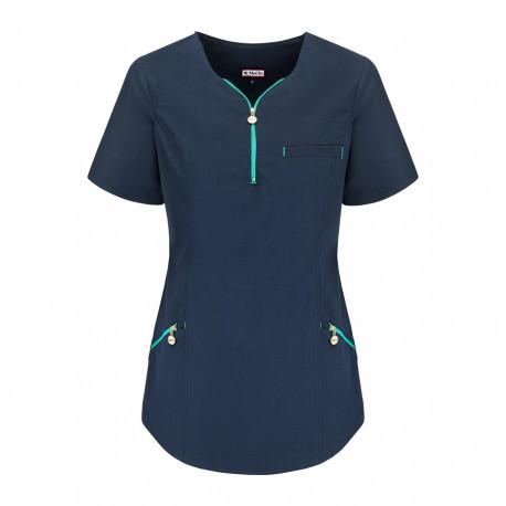 Bluza medyczna damska - dekolt na zamek