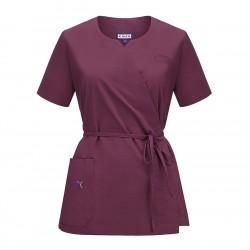 Bluza medyczna damska - na wiązanie