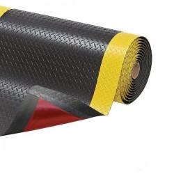 Wykładzina przemysłowa, ergonomiczna, laminowana, 60 cm x 91 cm-kolor żółty/czarny