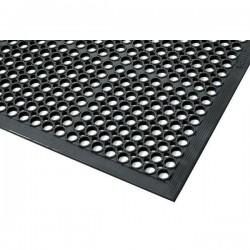 Wykładzina przemysłowa, ergonomiczna, dywanik gumowy (12,7 mm), 91 cm x 152 cm- kolor czarny