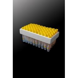 Probówki do oznaczania poziomu cukru na 1ml krwi z żółtym korkiem z etykietą (50szt)