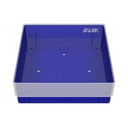 Pudełko KRIO /  bez przegródek z otworami w dnie /  130x130x45mm