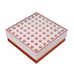 Pudełko KRIO /  8 x 8 /   z podwójnym wkładem /    130x130x45mm