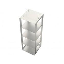 Statyw ze stali nierdzewnej do zamrażarek skrzyniowych /  do pudełek o wysokości do 95mm /  na 4 pudełka - 140 x 140 x 400 mm
