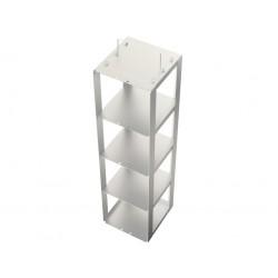 Statyw ze stali nierdzewnej do zamrażarek skrzyniowych /  do pudełek o wysokości do 125mm /  na 4 pudełka - 140 x 140 x 525 mm