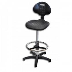 Krzesło Laboratoryjne /  wysokie /  kolumna chrom