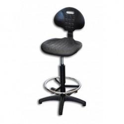 Krzesło Laboratoryjne /  wysokie /  kolumna czarna
