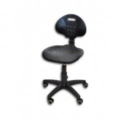 Krzesło Laboratoryjne / niskie / kolumna czarna